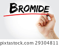 Hand writing Bromide with marker 29304811