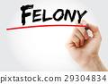Hand writing Felony with marker 29304834