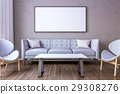 White picture frame on the wall  29308276