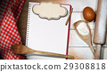 Baking Background with Empty Notebook 29308818