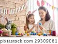 family preparing for Easter 29309061