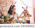 family preparing for Easter 29309062