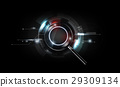magnifying glass, scan search concept technology 29309134