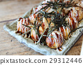 Takoyaki on wood background 29312446
