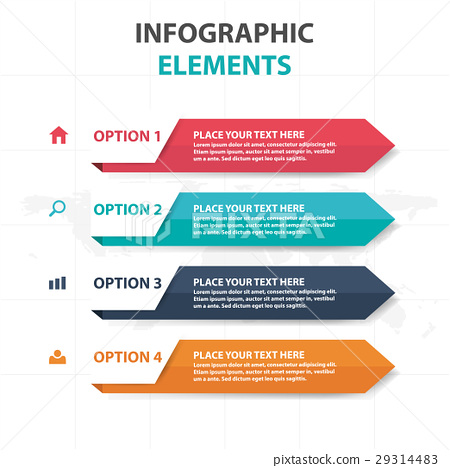 colorful arrow business Infographics elements 29314483