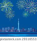 Tokyo Sky Tree and Fireworks 29316553