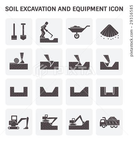 Soil Excavation Icon 29316585