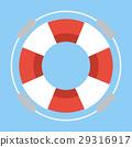 Life buoy on  flat design. 29316917