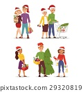 Christmas shopping people vector 29320819