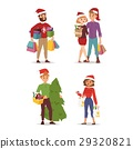 Christmas shopping people vector 29320821