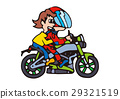 Large bike illustration, American bike 29321519