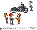 Large bike illustration, American bike 29321521