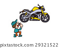 Large bike illustration, American bike 29321522