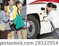 游客 乘公交旅行 车长 29322054