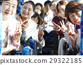 many People, bus tour, grinning 29322185