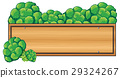 Wooden sign with broccoli on top 29324267
