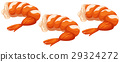 Shrimp cocktails on white background 29324272