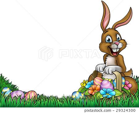 easter egg hunt bunny background