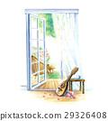 만돌린과 큰 창문 29326408