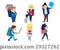 Little Schoolchildren Set 29327262