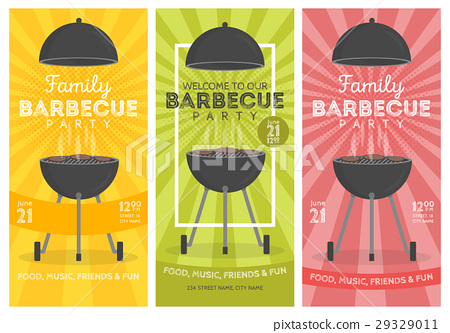 Lovely vector barbecue party invitation design 29329011