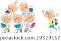 外で遊ぶ子供とゲームで遊ぶ子供 29329157