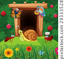 Many insects in front of tunnel 29333528