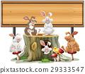 sign template rabbit 29333547