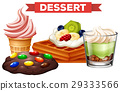 Different desserts on white background 29333566