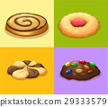 Four types of cookies 29333579