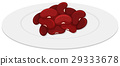 Red beans on round plate 29333678