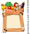 Frame template with mixed vegetables 29333690