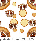 Seamless background with meerkat faces 29333753