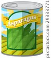 Asparagus in aluminum can 29333771