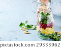 Salads in mason jars 29333962