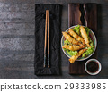 Fried tempura shrimps with sauce 29333985