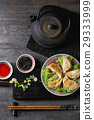 Gyozas potstickers with sauces 29333999