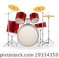 drum set kit musical instruments stock vector 29334350