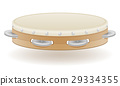 tambourine musical instruments stock vector 29334355