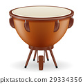 timpani drum musical instruments stock vector 29334356