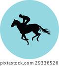 jockey riding a horse 29336526