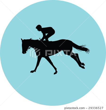 jockey riding a horse 29336527