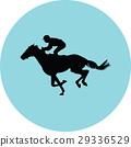 jockey riding a horse 29336529