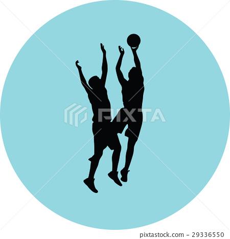 basketball silhouette vector 29336550