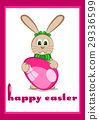 Card for Easter with little easter bunny 29336599