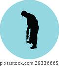 worker vector silhouette 29336665