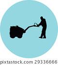 worker vector silhouette 29336666