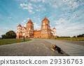 Mir, Belarus. Mir Castle Complex On Blue Sunny 29336763