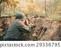 Re-enactor Dressed As German Wehrmacht Infantry 29336795