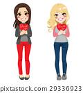 Girls Thank You Heart 29336923